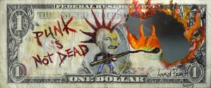 punk dollar bill
