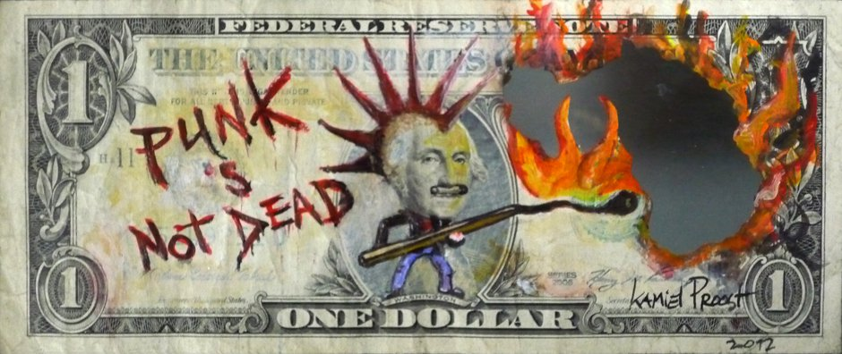 punk dollar bill