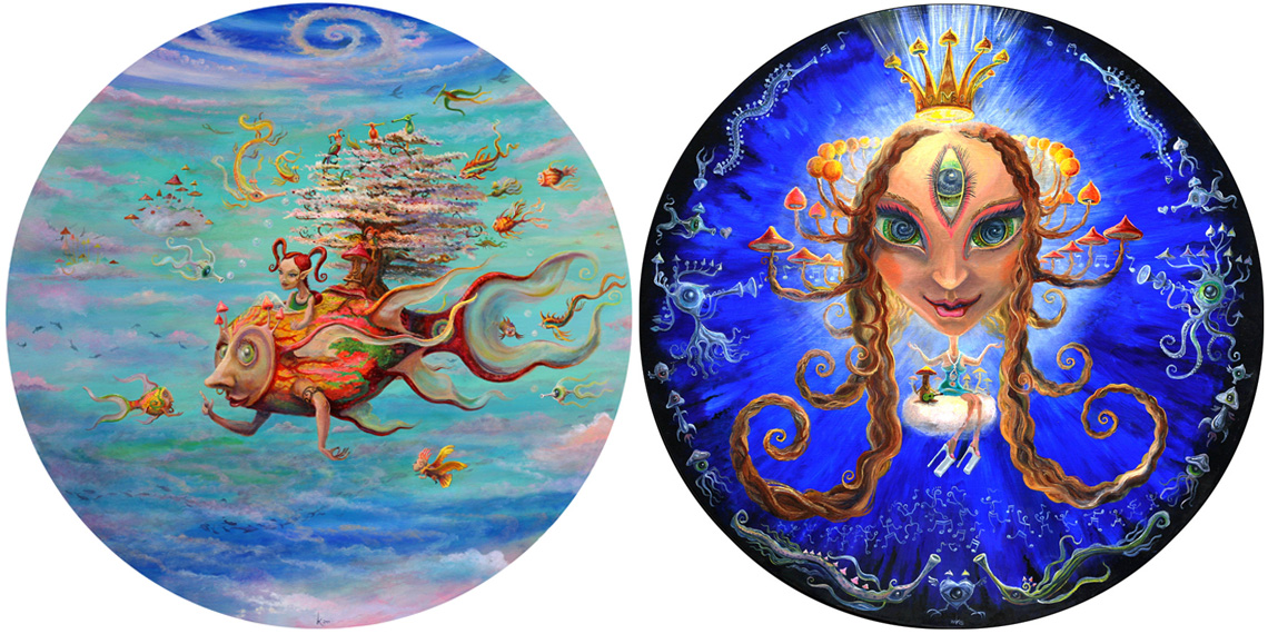 Magic Mushroom Buddha Series